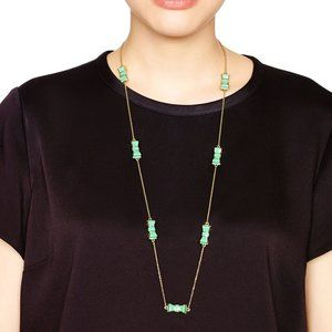 Kate Spade Green Bow Necklace